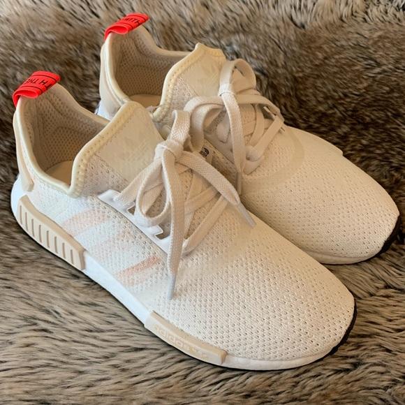 super cute fc6e9 1cc26 Adidas NMD R1 Women s Shoes White Cream